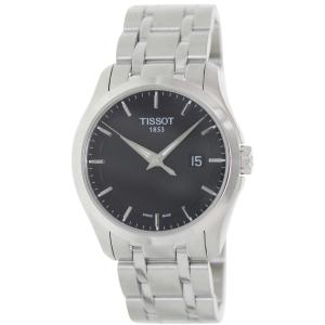 Tissot Men's Couturier T035.410.11.051.00 Black Stainless-Steel Quartz Watch
