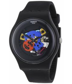 Swatch Men's Originals SUOB101 Black Plastic Quartz Watch