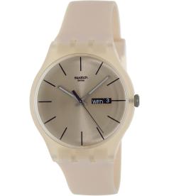 Swatch Women's Originals SUOT700 Pink Plastic Quartz Watch