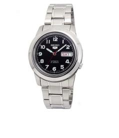 Seiko Men's 5 Automatic SNKK35K Black Stainless-Steel Automatic Watch