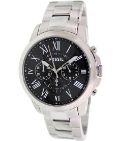 Fossil Men's Grant FS4736 Black Stainless-Steel Analog Quartz Watch