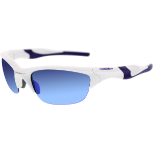 Oakley Men's Mirrored Half Jacket 2.0 OO9144-08 White Wrap Sunglasses