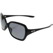 Oakley Women's Polarized Overtime OO9167-07 Black Square Sunglasses