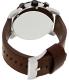 Fossil Men's Nate JR1390 Brown Calf Skin Quartz Watch - Back Image Swatch