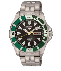 Seiko Men's 5 Automatic SRP205K Black Stainless-Steel Automatic Watch