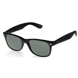 Ray-Ban Men's New Wayfarer RB2132-901L-55 Black Oval Sunglasses