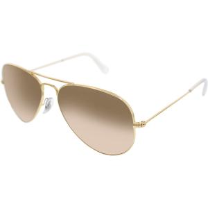 Ray-Ban Women's Aviator RB3025-001/3E-55 Gold Aviator Sunglasses