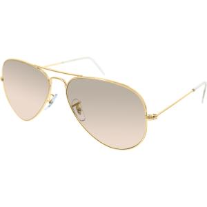 Ray-Ban Men's Aviator RB3025-001/3E-58 Gold Aviator Sunglasses