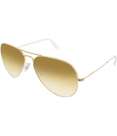 Ray-Ban Men's Aviator RB3025-001/4F-58 Gold Aviator Sunglasses