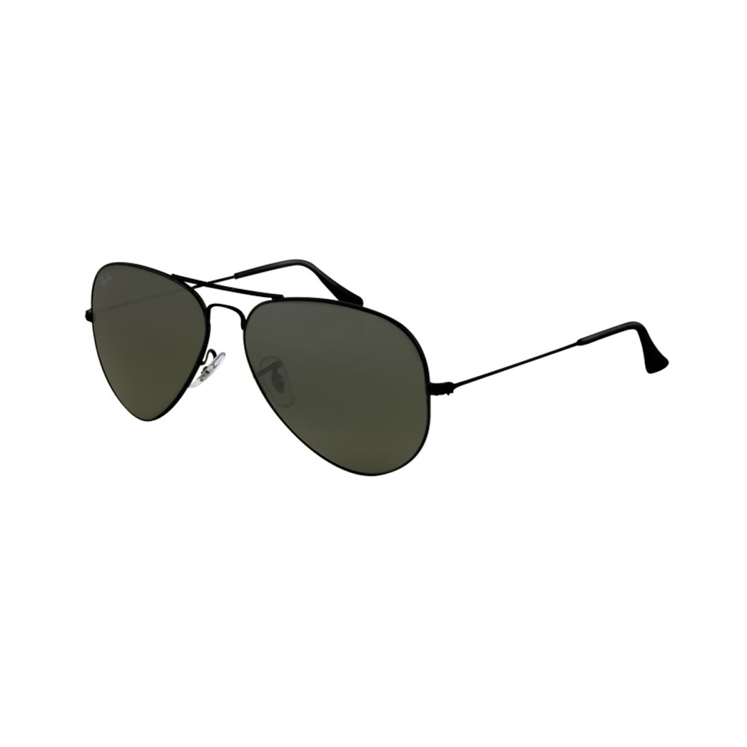 Ray-Ban Men's Polarized Aviator RB3025-002/58-58 Black Sunglass