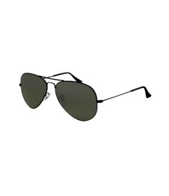 Ray-Ban Men's Mirrored Aviator RB3025-002/58-58 Black Aviator Sunglasses