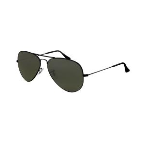 Ray-Ban Men's Polarized Aviator RB3025-002/58-58 Black Aviator Sunglasses