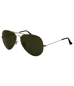Ray-Ban Men's Polarized Aviator RB3025-004/58-58 Gunmetal Aviator Sunglasses