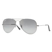 Ray-Ban Men's Gradient Aviator RB3025-004/78-55 Silver Aviator Sunglasses
