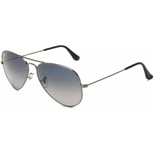 Ray-Ban Men's Polarized Aviator RB3025-004/78-58 Silver Aviator Sunglasses