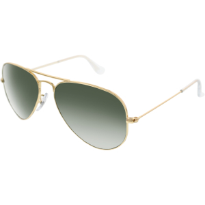 Ray-Ban Men's Aviator RB3025-W3234-55 Gold Aviator Sunglasses