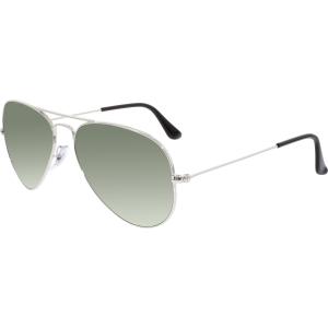 Ray-Ban Men's Aviator RB3025-W3275-55 Silver Aviator Sunglasses