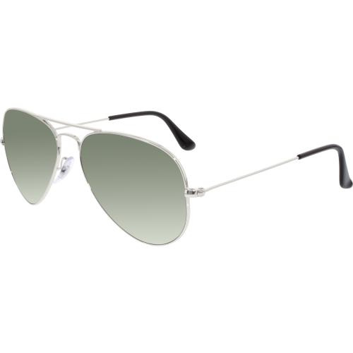 d914ea77d0 Ray-Ban Men s Aviator RB3025-W3275-55 Silver Aviator Sunglasses