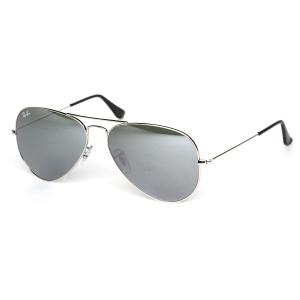 Ray-Ban Men's Mirrored Aviator RB3025-W3277-58 Silver Aviator Sunglasses