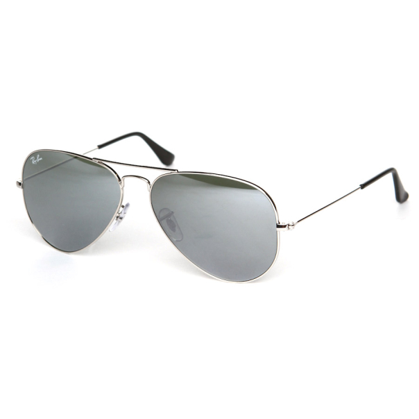 ray ban men 39 s mirrored aviator rb3025 w3277 58 silver aviator sunglasses. Black Bedroom Furniture Sets. Home Design Ideas
