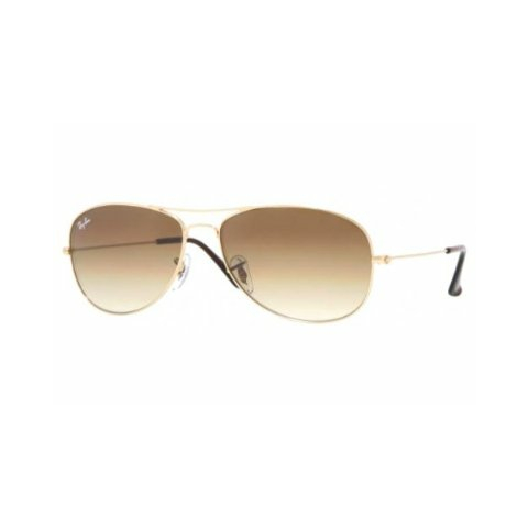 Ray-Ban Gradient Cockpit RB3362-001/51-59 Gold Aviator Sunglasses