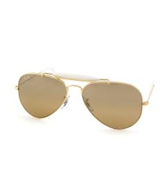 Ray-Ban Men's Outdoorsman RB3407-001/3K-58 Gold Aviator Sunglasses