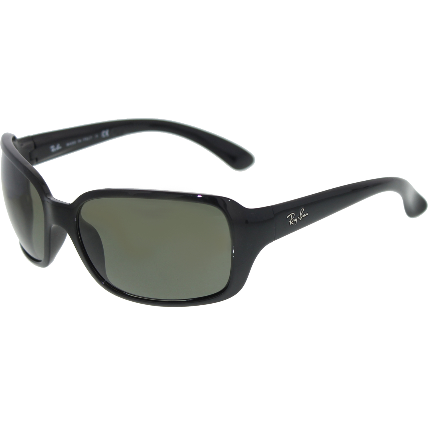 Ray-Ban Women's Highstreet RB4068-601-60 Black Oval ...
