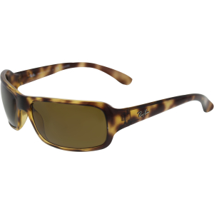 Ray-Ban Women's Polarized Highstreet RB4075-642/57-61 Brown Rectangle Sunglasses