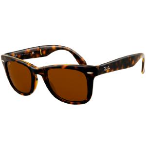 Ray-Ban Men's Folding Wayfarer RB4105-710-50 Tortoiseshell Wayfarer Sunglasses