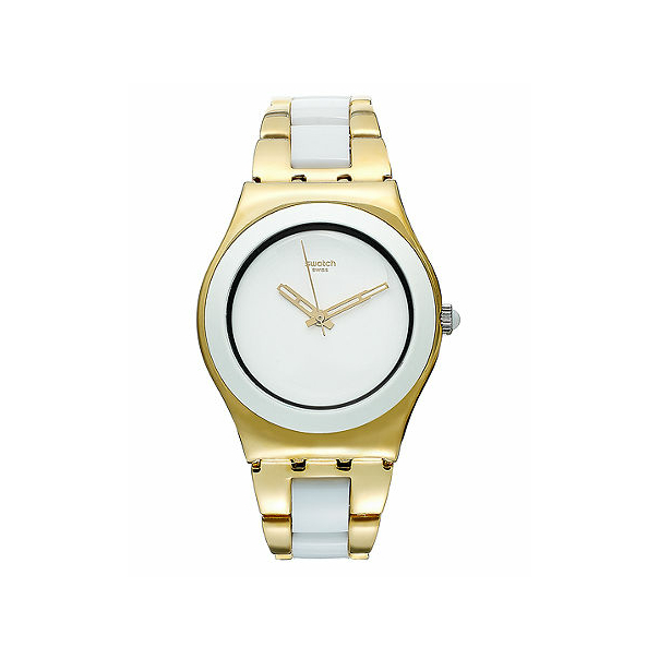 swatch s irony ylg122g gold stainless steel swiss