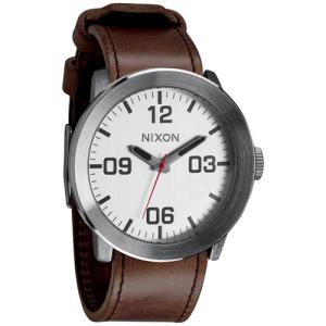Nixon Men's Corporal A2431113 Brown Leather Quartz Watch