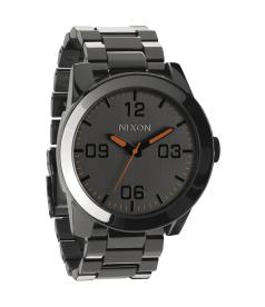 Nixon Men's Corporal SS A3461235 Black Stainless-Steel Quartz Watch