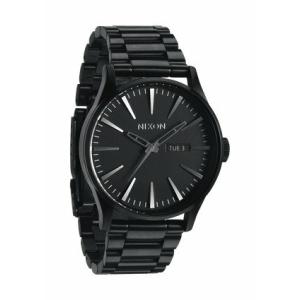 Nixon Men's Sentry SS A356001 Black Stainless-Steel Quartz Watch