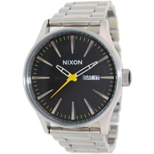 Nixon Men's Sentry SS A3561227 Silver Stainless-Steel Quartz Watch