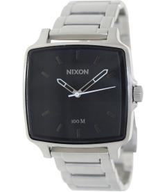 Nixon Men's Cruiser A357000 Black Stainless-Steel Analog Quartz Watch
