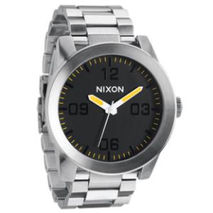 Nixon Men's Corporal SS A3461227 Silver Stainless-Steel Quartz Watch