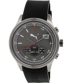 Puma Men's Motor PU102741001 Grey Rubber Analog Quartz Watch