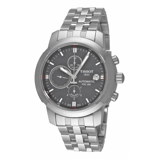 Tissot Men's PRC 200 T014.427.11.081.00 Grey Stainless-Steel Swiss Automatic Watch