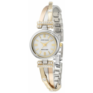 Anne Klein Women's 10-9479MPTR Mother-Of-Pearl Stainless-Steel Quartz Watch