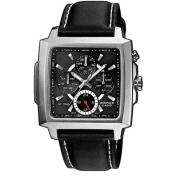 Casio Men's Edifice EF324L-1AV Silver Leather Quartz Watch