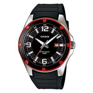 Casio Men's Core MTP1346-1AV Black Resin Quartz Watch