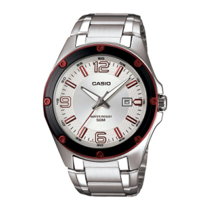Casio Men's Core MTP1346D-7A1V Silver Stainless-Steel Quartz Watch