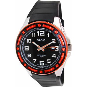 Casio Men's Core MTP1347-1AV Black Resin Quartz Watch