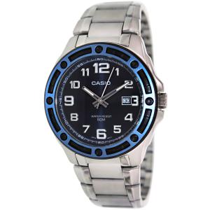 Casio Men's Core MTP1347D-2AV Silver Stainless-Steel Quartz Watch
