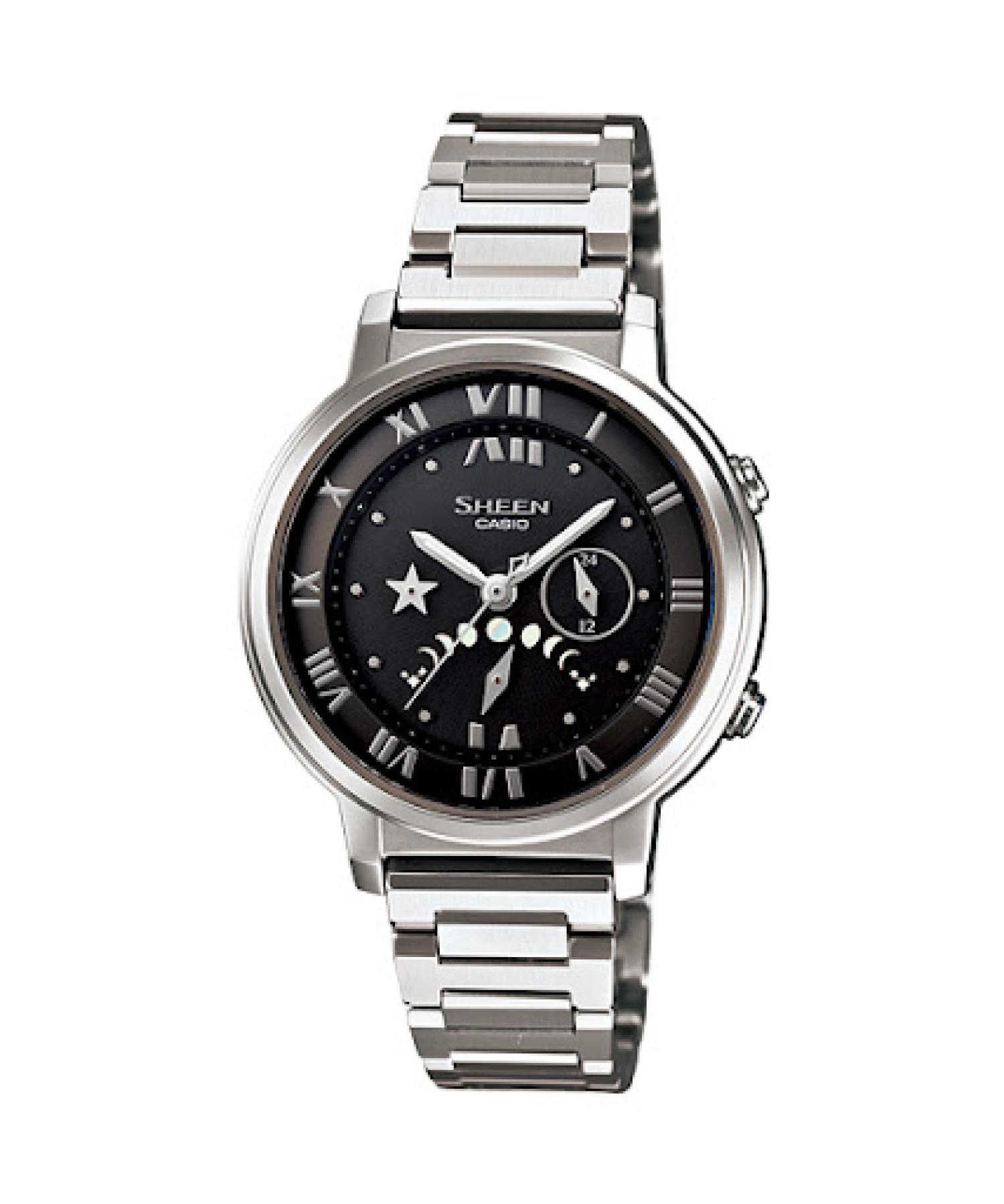 Casio Men's Sheen SHE3501SBD-1A Silver Stainless-Steel Quartz Fashion Watch