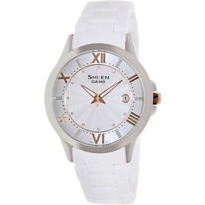 Casio Women's Sheen SHE4024-7A White Plastic Quartz Watch