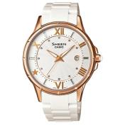 Casio Women's Sheen SHE4024G-7A White Resin Quartz Watch