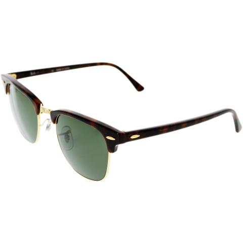 Ray-Ban Men's Clubmaster RB3016-W0366-49 Tortoiseshell Round Sunglasses