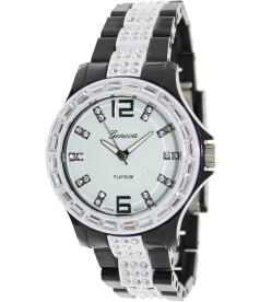 Geneva Platinum Women's 2124.Black.White White Ceramic Quartz Watch