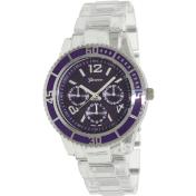 Geneva Platinum Women's 9167.Purple Purple Plastic Quartz Watch
